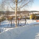 Lekeplassen i enden av Huldervegen og Alvevegen